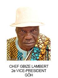 CHEF GBIZE LAMBERT 2e VICE-PRESIDENT GÔH