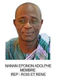 NANAN EPONON ADOLPHE MEMBRE  REP - ROIS ET RENE