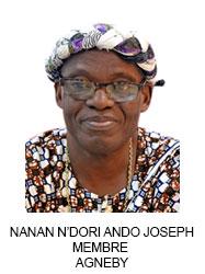 NANAN N'DORI ANDO JOSEPH MEMBRE  AGNEBY