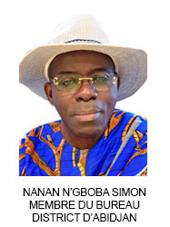 NANAN N'GBOBA SIMON MEMBRE DU BUREAU DISTRICT D'ABIDJAN
