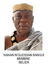NANAN N'GUESSAN BANGUI MEMBRE  BELIER