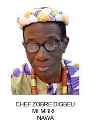 CHEF ZOBRE DIGBEU MEMBRE  NAWA